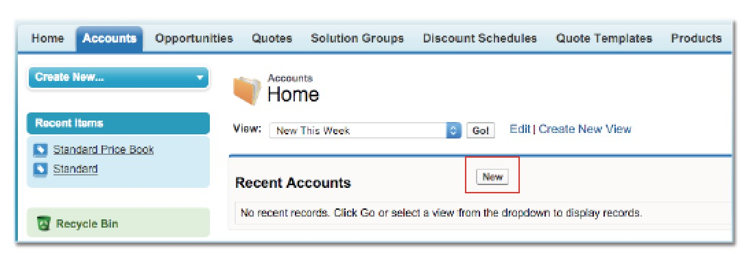 Creating an Account and an Opportunity in Salesforce CPQ/ Steelbrick